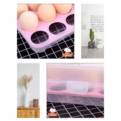 (15 slots) Egg Tray with Cover