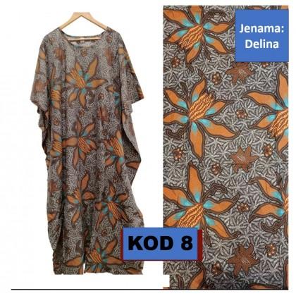 Baju Kaftan Kelawar Corak Batik Cotton Halus dan Lembut