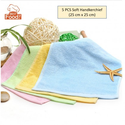 (5 PCS) Baby/ Infant/ Kid Soft Handkerchief 25cm x 25cm