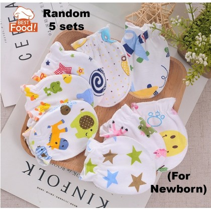 (5 PAIRS) Baby Mittens Combination Design