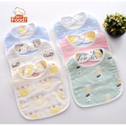(2 PCS) Baby Bibs Multi-Color with Buttons
