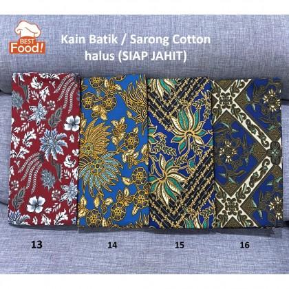 Kain Batik / Sarong (Boleh Pilih Corak )114 cm x 94 cm (Cotton  Halus SIAP JAHIT) 2