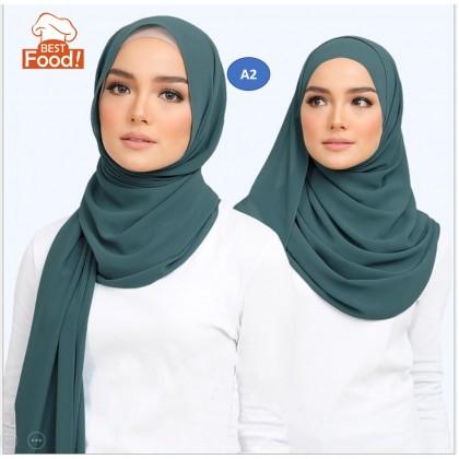 Muslimah Chiffon Scarf Hijab / Shawls (180 cm x 70 cm)