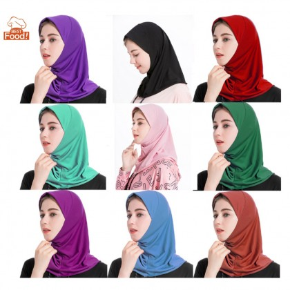 Muslimah Stretchable Inner Neck Hijab / Tudung